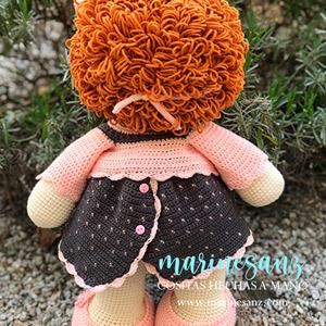 muñeca pepona amigurumi